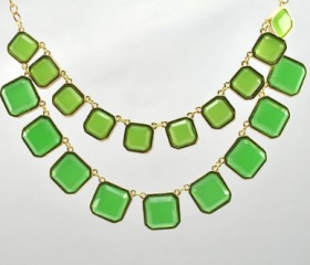 New arrival 2 row squre necklace,fashion necklace,bubble Bib Necklace
