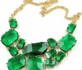 bubble Bib Necklace Statement Fashion Necklace
