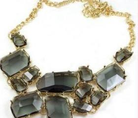 Freeform bubble Bib Necklace Statement Fashion Necklace